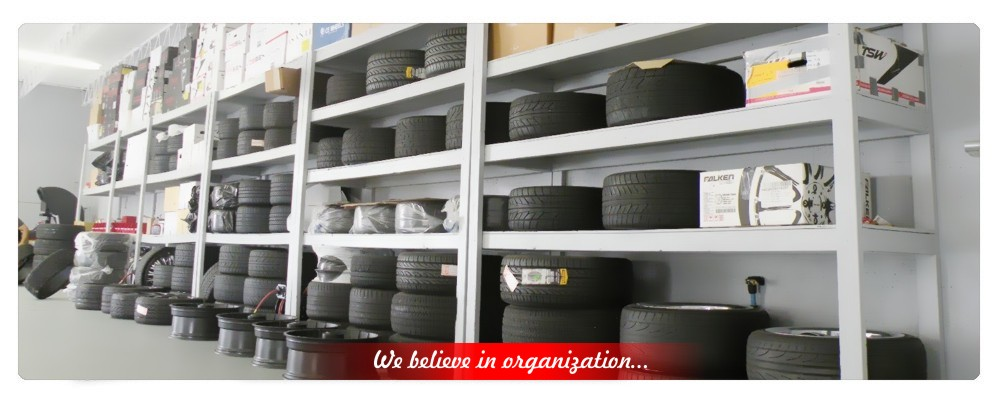 tire stock room